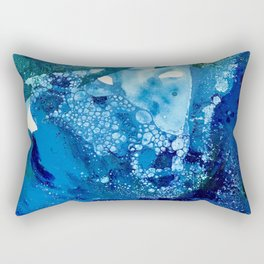 Environmental Blue Leaves, Tiny World Collection Rectangular Pillow