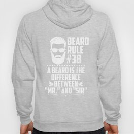 Beard Rule #38 Cool Humorous Bearded Men Beards Mustaches Lovers Gift Hoody