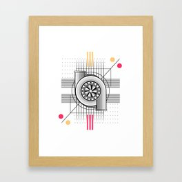Turbo engine Framed Art Print
