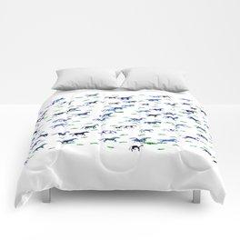 Blue Stampede Comforters