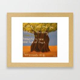 Olive Tree-Jeremiah 11:16 Framed Art Print
