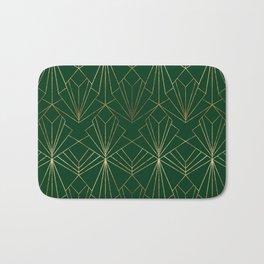 Art Deco in Gold & Green Bath Mat