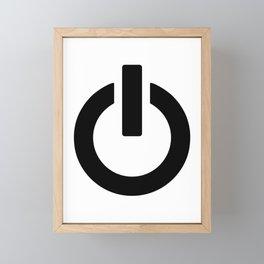 Power Button Framed Mini Art Print