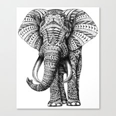 Ornate Elephant Canvas Print