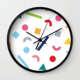 geometric funfetti Wall Clock