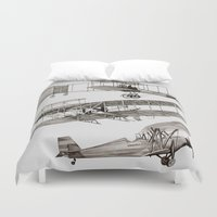 airplanes Duvet Covers featuring airplanes 3 by Кaterina Кalinich