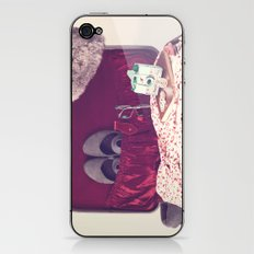 Vintage Journey Suitcase (Hers) (Retro and Vintage Still Life Photography)  iPhone & iPod Skin
