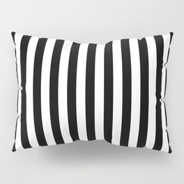 Stripe Black And White Vertical Line Bold Minimalism Stripes Lines Pillow Sham