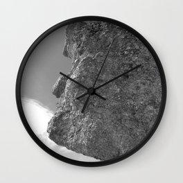 SHAPE OF A FACE STONE Wall Clock