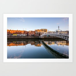 River Liffey Reflections Art Print