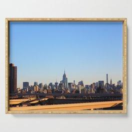 New York Urban Skyline  Serving Tray
