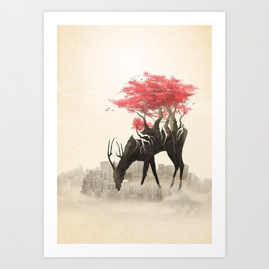 Revenge of the forest Art Print