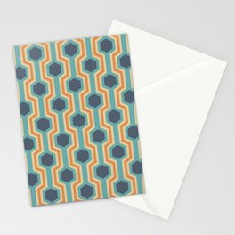 Retro-Delight - Humble Hexagons - Beach Stationery Cards