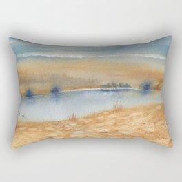 2 Colors - 3 Swans Rectangular Pillow