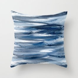 Just Indigo 2 | Minimalist Watercolor Throw Pillow