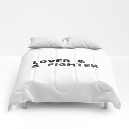 LOVER AND A FIGHTER - ink Comforters