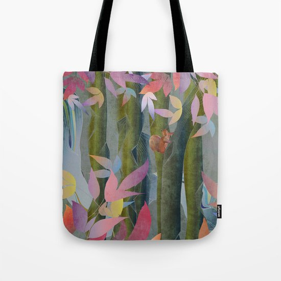 Autumn by a Waterfall Tote Bag