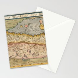 Vintage Map Print - Ortelius - North Africa, 1574 Stationery Cards