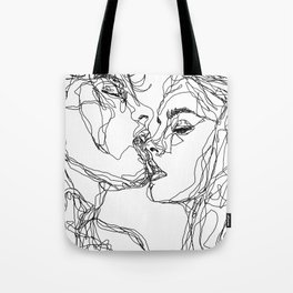 kiss more often (B & W) Tote Bag