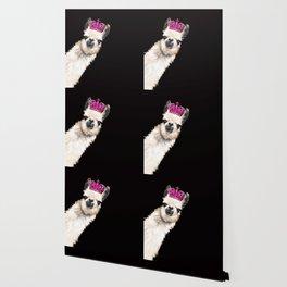 Llama Queen Wallpaper