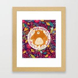 Bear in autumn forest Framed Art Print