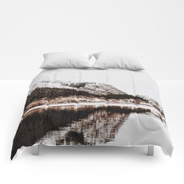LAKE - OCEAN - BAY - SNOW - MOUNTAINS - HILLS - PHOTOGRAPHY Comforters
