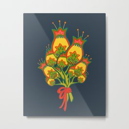 Yellow Folk Bundle Metal Print