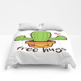 Free Hugs Cactus Comforters
