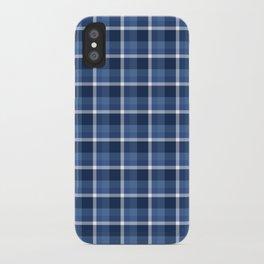 Navy Plaid iPhone Case