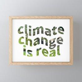 Climate Change Global Warming Is real Framed Mini Art Print