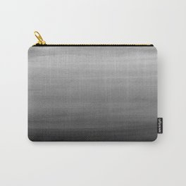 Touching Black Gray White Watercolor Abstract #1 #painting #decor #art #society6 Carry-All Pouch