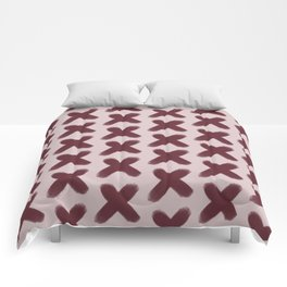 Pink and Red Xs Comforters