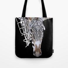 Zebra head Tote Bag