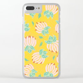 Blush Bloom Peony Lemon Clear iPhone Case