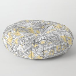 Paris toile gold Floor Pillow