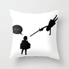 Fight! Throw Pillow