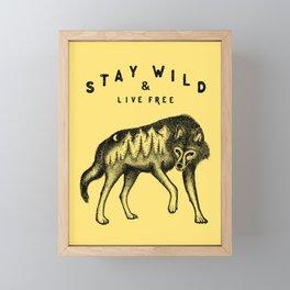 STAY WILD & LIVE FREE Framed Mini Art Print