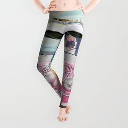 Pug Girly Adventure Peace Leggings