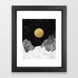 Moon and Stars Framed Art Print