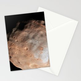 Phobos from 5800 Kilometers Stationery Cards