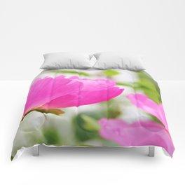 Peony in bloom Comforters