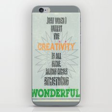 Something Wonderful iPhone & iPod Skin