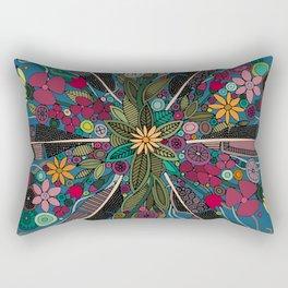 bohemian posy blue Rectangular Pillow