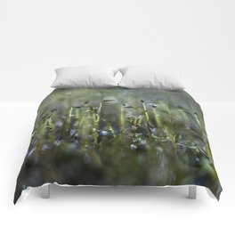 dewy moss sprouts Comforters