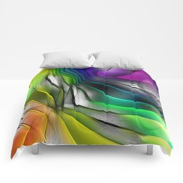COLOR COVERGECE ABSTRACT Comforters