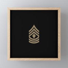 1st Sergeant (Brown) Framed Mini Art Print