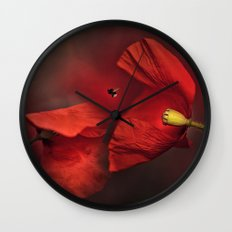 Poppies Wall Clock