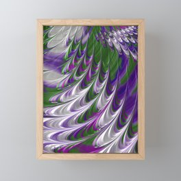 Purple and Green Abstract Framed Mini Art Print