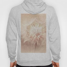 Pink Dandelion Flower - Floral Nature Photography Art and Accessories Hoody