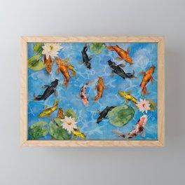 KOI POND Framed Mini Art Print